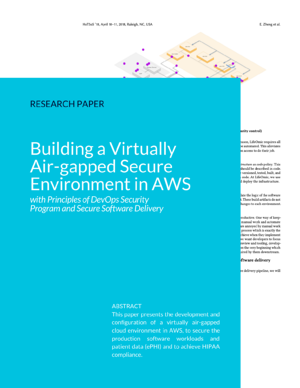 Building a Virtually Air-gapped Secure Environment in AWS