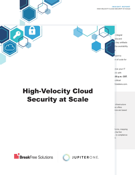 High Velocity Cloud Security at Scale